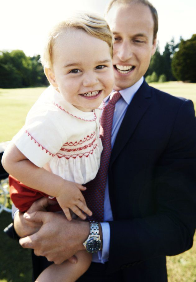 What a big grin from our little prince! [Mario Testino/PA Wire]