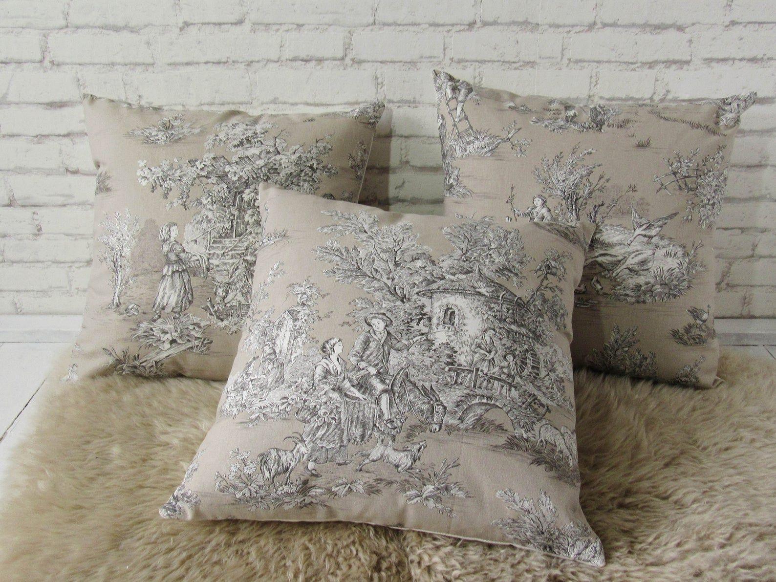Pillow case 40x40cm Toile de Jouy