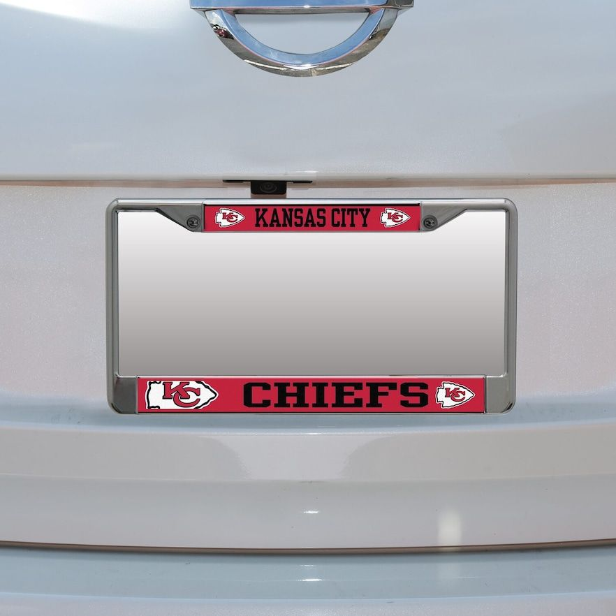 Kansas City Chiefs Small Over Large Mega License Plate Frame In 2020 License Plate Frames Frame Atlanta Falcons