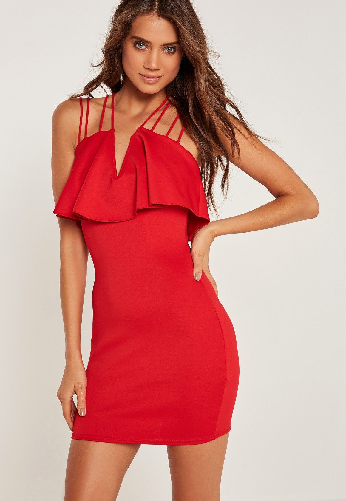 75bf332502 Missguided - Robe rouge moulante à lanières | Red For Bed in 2019 ...