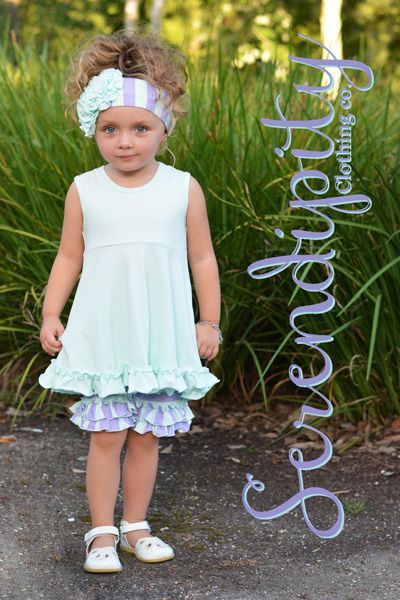 28bcb14c6133 Serendipity Girls Ruffle Shorts with Tunic in Mint PREORDER ...