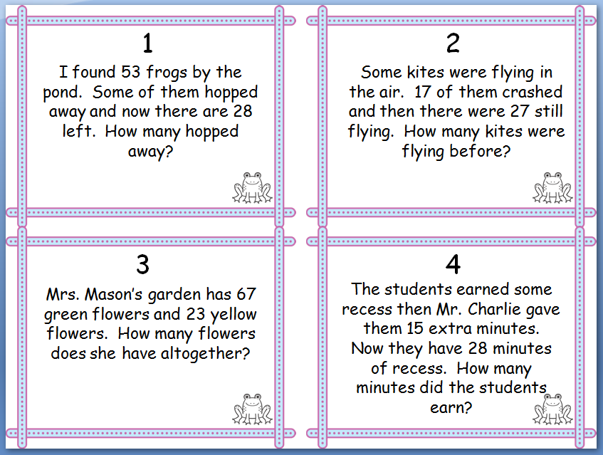 Are Your Students Proficient With The 12 Problem Types For