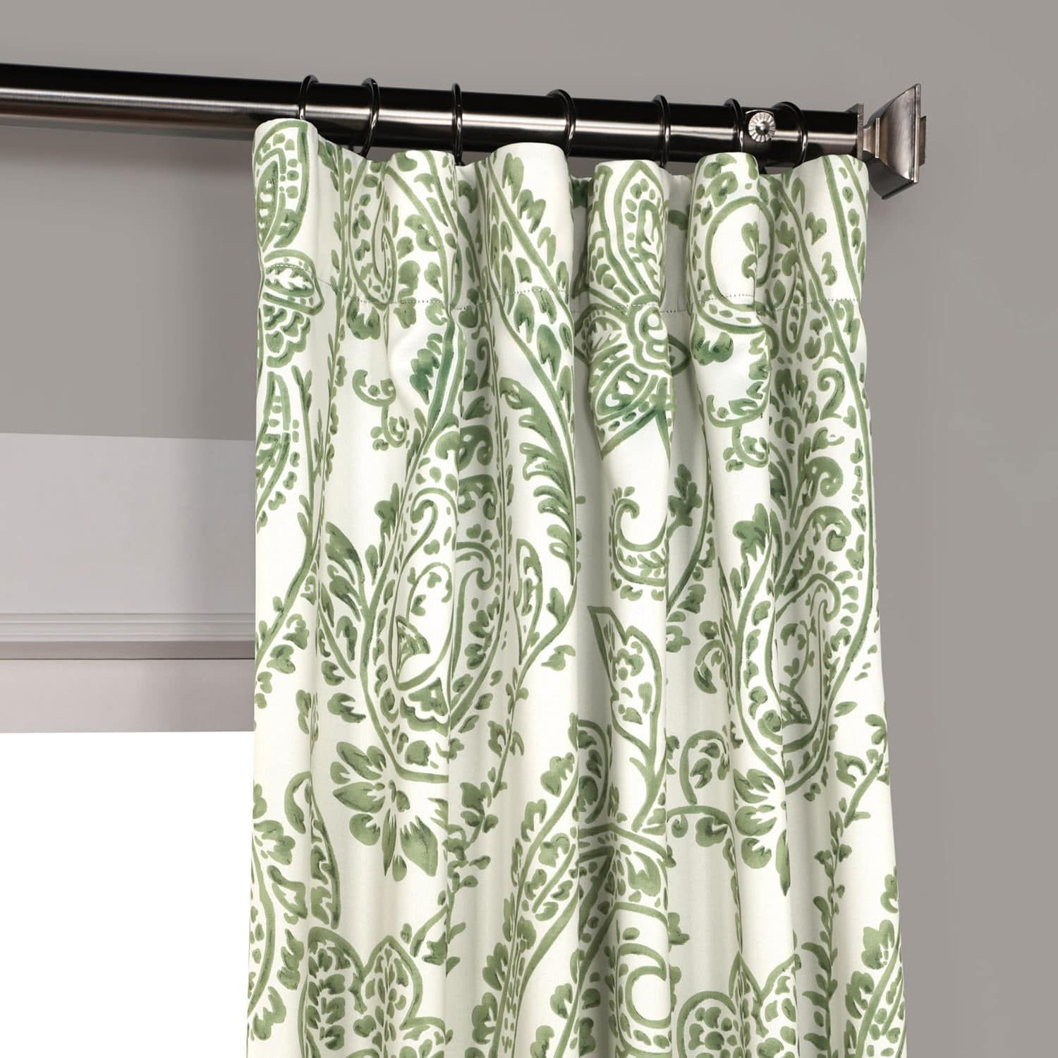 Tea Time Green Blackout Room Darkening Curtain Green Curtains Living Room Panel Curtains Curtains