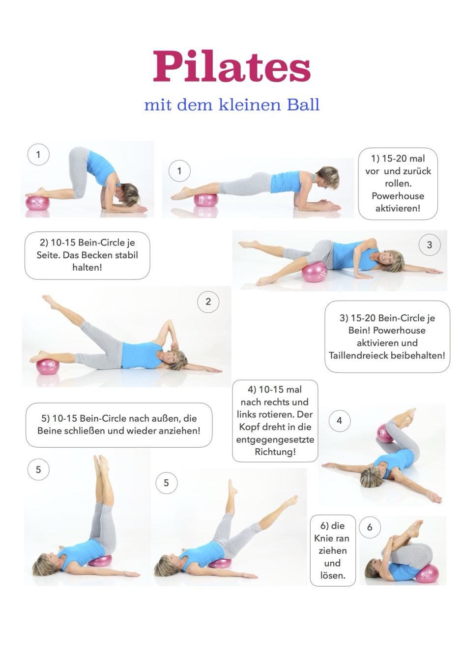 pilates mit dem kleinen ball sport pinterest bungen gesundheit und fitness bungen. Black Bedroom Furniture Sets. Home Design Ideas