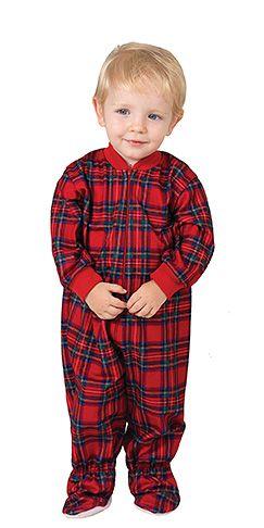 6046733e6849 Stewart Plaid Infant Onesie Pajamas