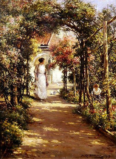 William Kay Blacklock 1872 1922 British Painter Summer Art Garden Painting Beautiful Art