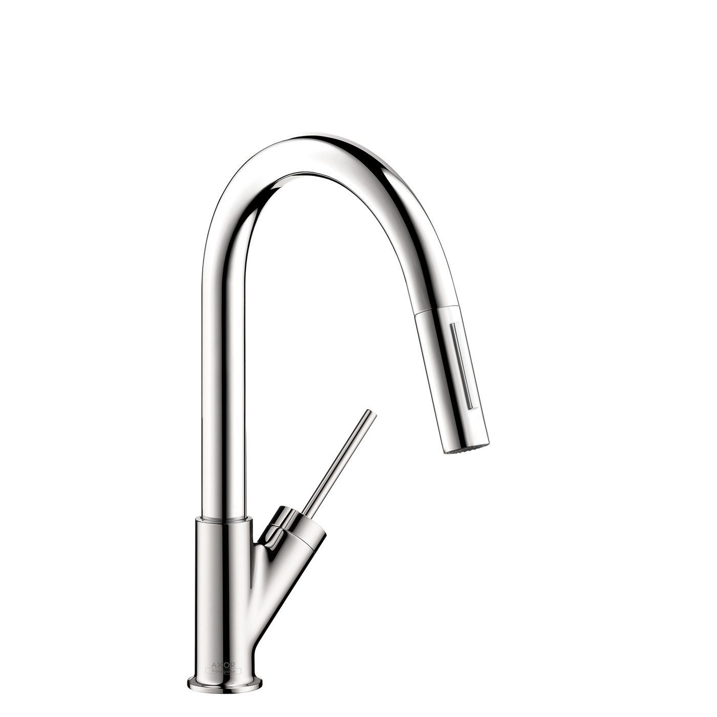 Hansgrohe Axor 10824001 Chrome Starck Pull-Down Kitchen Faucet with ...