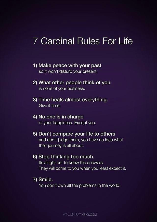 7 reglas para la vida