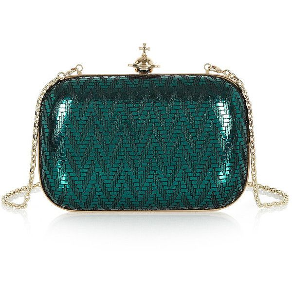 4bfb437e7 Vivienne Westwood Grace Small Clutch (42,610 MKD) ❤ liked on Polyvore  featuring bags, handbags, clutches, metallic clutches, kiss-lock handbags,  ...
