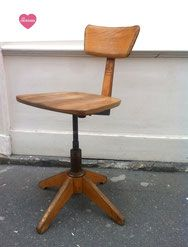 Chaise bureau en bois style industriel annes 5060 Sedus
