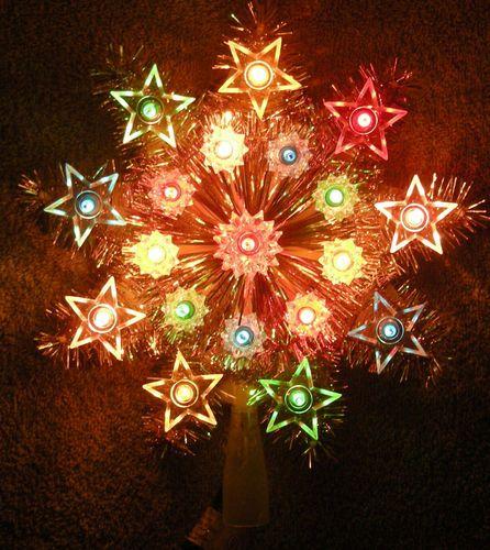 lighted christmas trees - Led Christmas Tree Topper