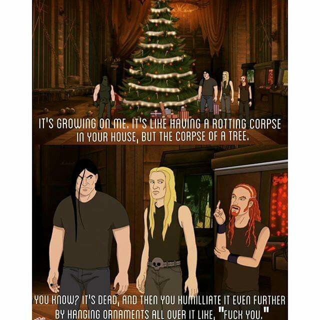 Dethklok Metal Christmas Tree Metalocalypse - Dethklok Metal Christmas Tree Metalocalypse Amusement Christmas