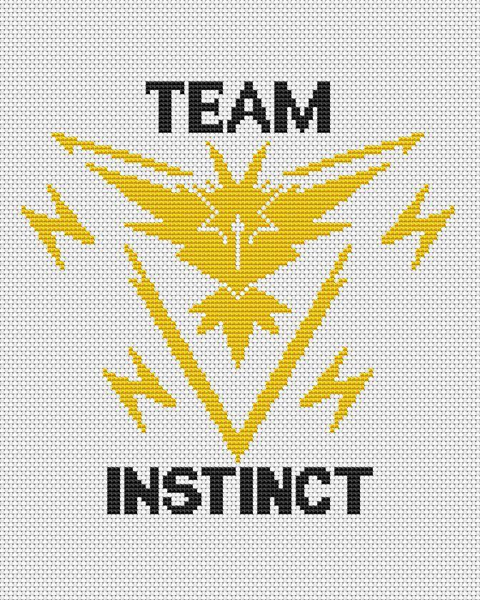 Team Instinct - Pokemon Go pattern by AnnaXStitch | -PC pokemon ...