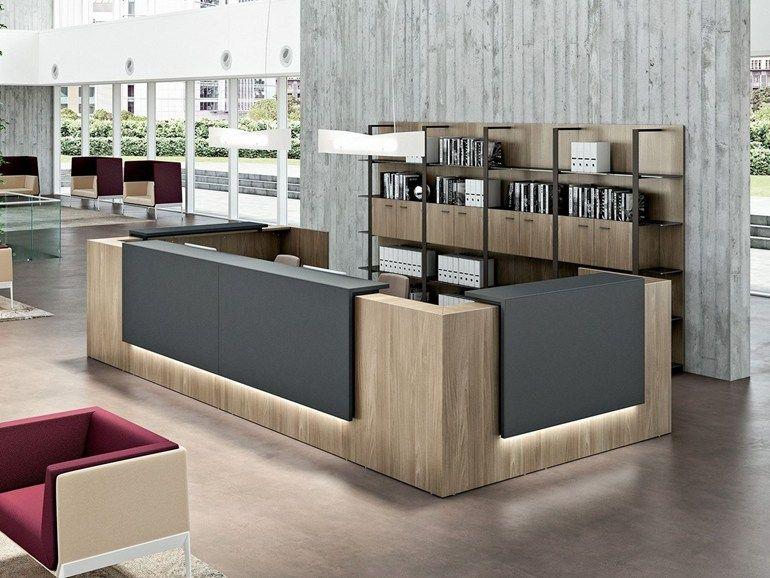 Banco reception modulare quadrifoglio nel 2019 ufficio for Reception da ufficio