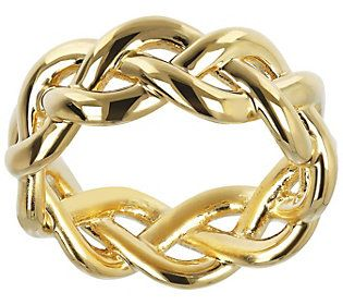 Polished Braided Band Ring 14k Gold