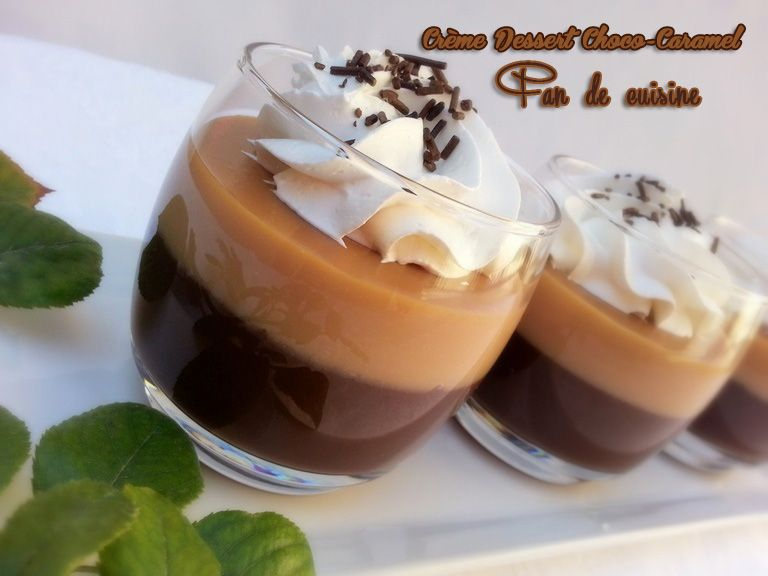 Crème dessert choco-caramel