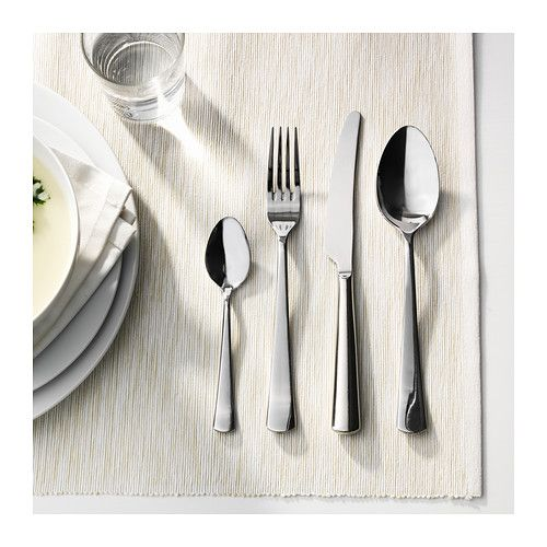 sedlig 24 piece cutlery set stainless steel cutlery set cutlery and cozy apartment. Black Bedroom Furniture Sets. Home Design Ideas