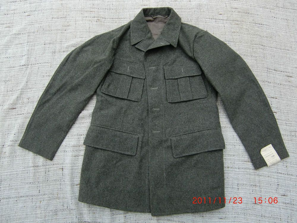 Vintage Swedish Army Fitted Wool Coat Jacket Tunic WWII M39. NEW, 1940