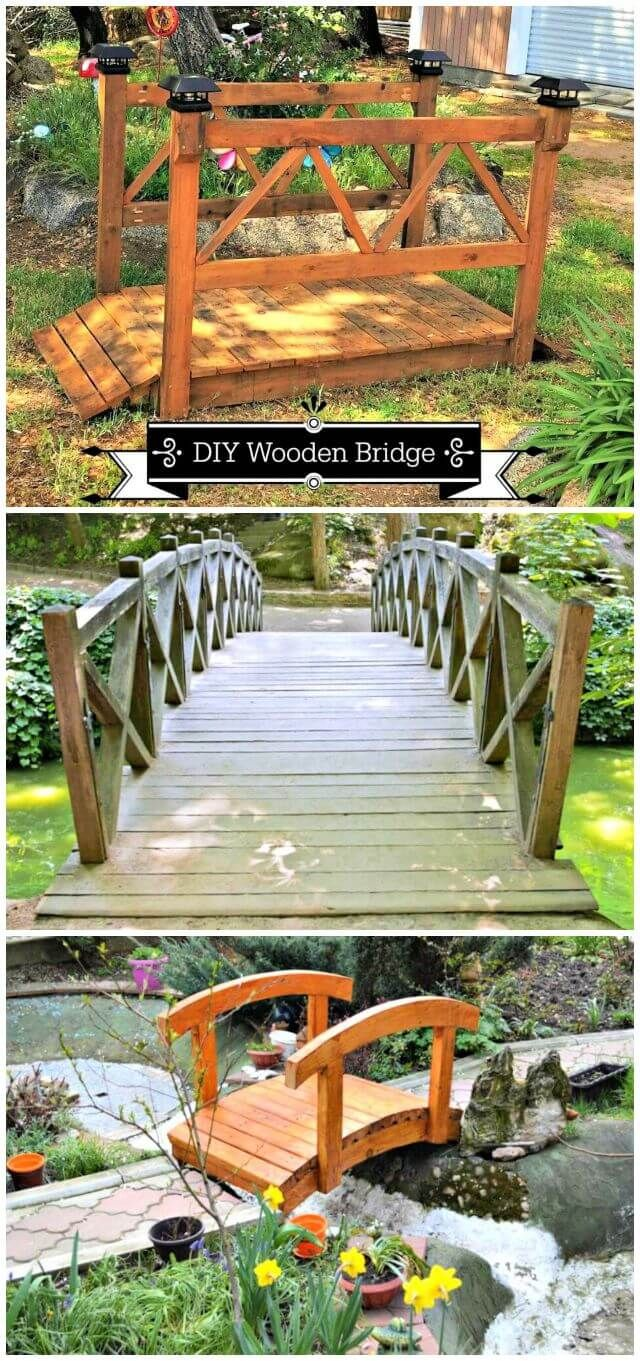 8 DIY Garden Bridge Plans Made with Wood - DIY & Crafts  Backyard