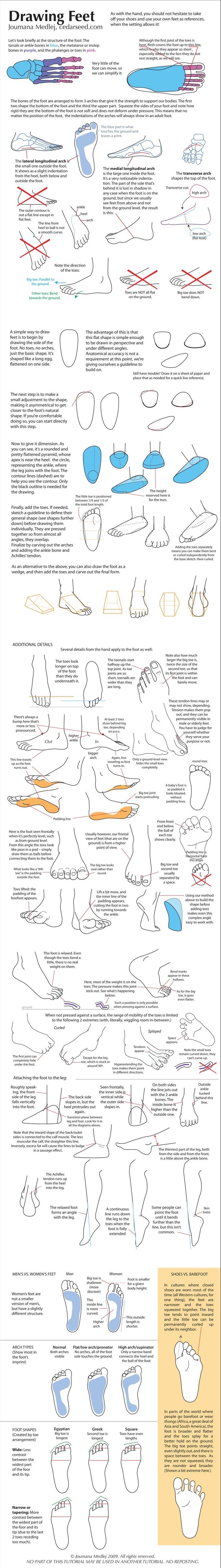 Drawing Feet by `majnouna on deviantART