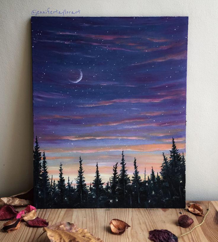 Erinnert mich an einen alaskischen Abend #abend #alaskischen #einen #erinnert #b #artanddrawing