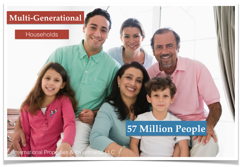 http://floridaipi.com/ - Multigenerational families on the rise in the U.S at 57 million now and buy homes in Wellington Florida, Davie Florida, Port St Lucie Florida #InternationalPropertiesAndInvestments