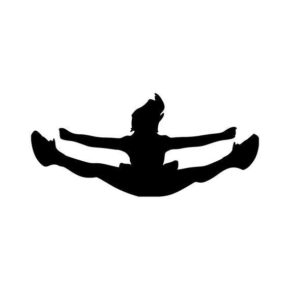 CHEERLEADER FLYER - Vinyl Decal Sticker Cheerleading Stunt  *Free Shipping* #cheerleadingstunting
