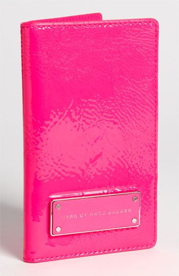 take me wallet by marc jacobs. love the hot pink.