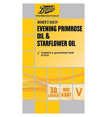 Boots Pharmaceuticals Boots Evening Primrose Oil Evening Primrose Oil Starflower Oil Evening Primrose