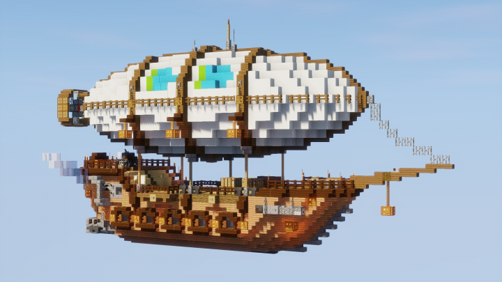 Passenger Airship Minecraft Project | Minecraft | Minecraft projects