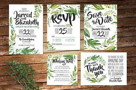 Stunning five piece set from And Then I Met You in a rustic greenery style