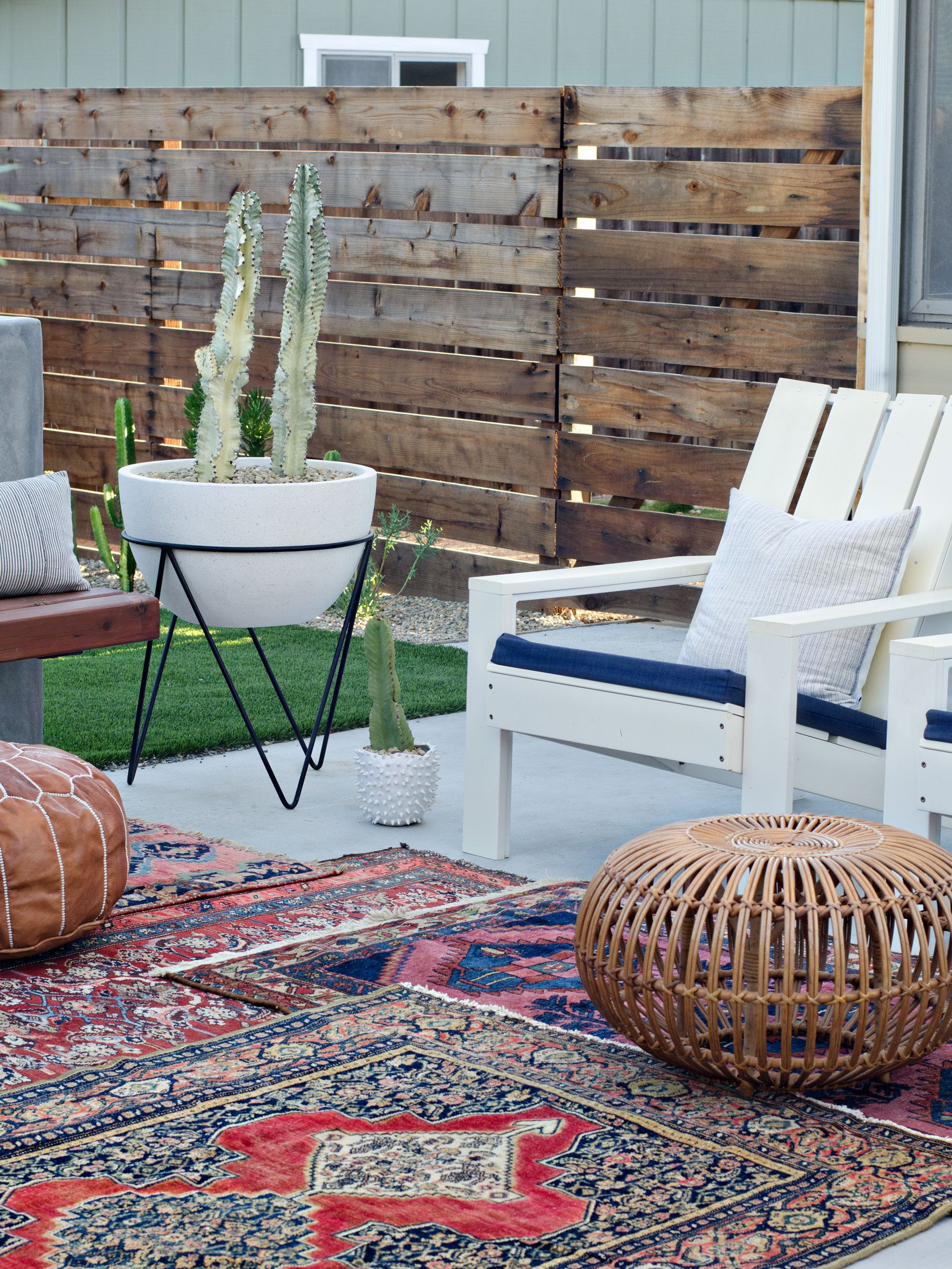 Superbe Modern California Backyard Reveal   The Vintage Rug Shop The Vintage Rug  Shop