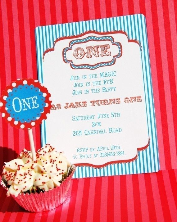 Vintage Carnival Printable Editable Invitation by PaperandPigtails, $12.50