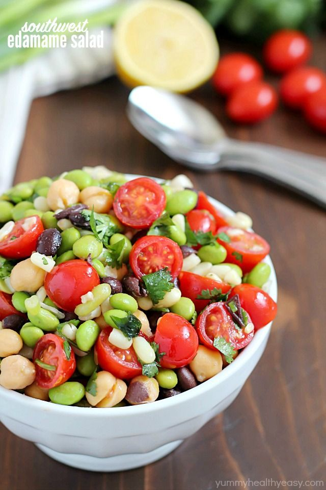 Welcome Spring By Making Edamame Salad It S A Healthy And Delicious Salad With A Southwestern Flair Full Edamame Salad Delicious Salads Healthy Salad Recipes