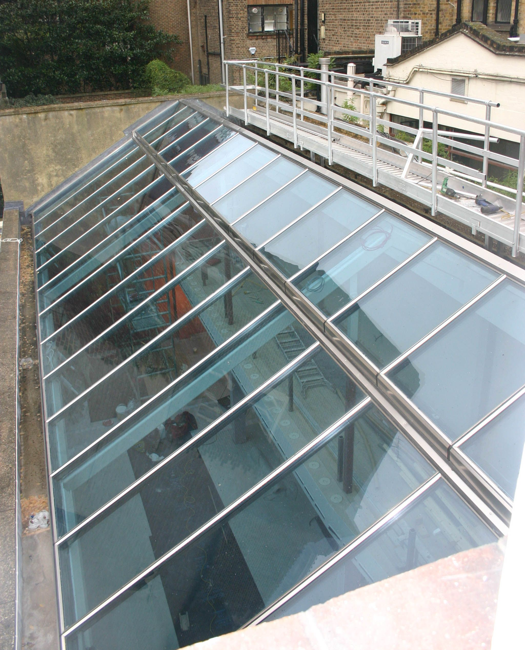 Vrs Is A Panel Based Glass Roof System With Profiles In