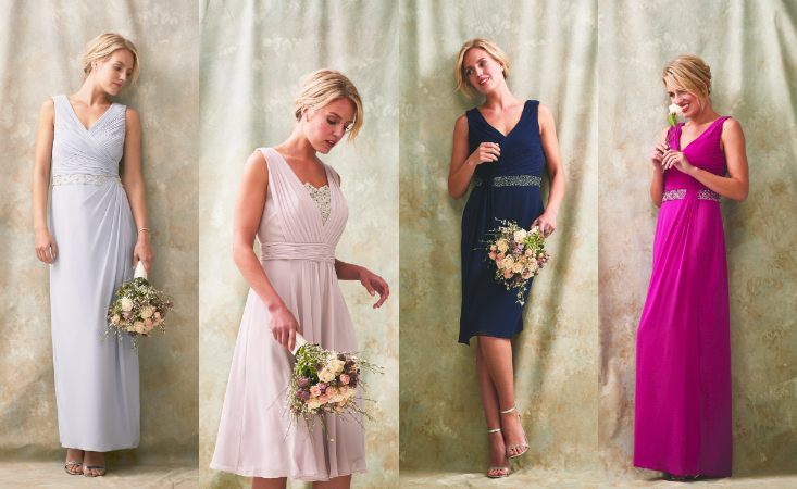 This makes choosing bridesmaid colours easy peasy with something for everyone!