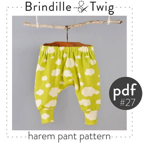 68f7048fdc7 Baby harem pants pdf pattern, photo tutorial .. seven sizes 0-3M to 2-3T  -Pattern 27 on Etsy, $8.47 AUD