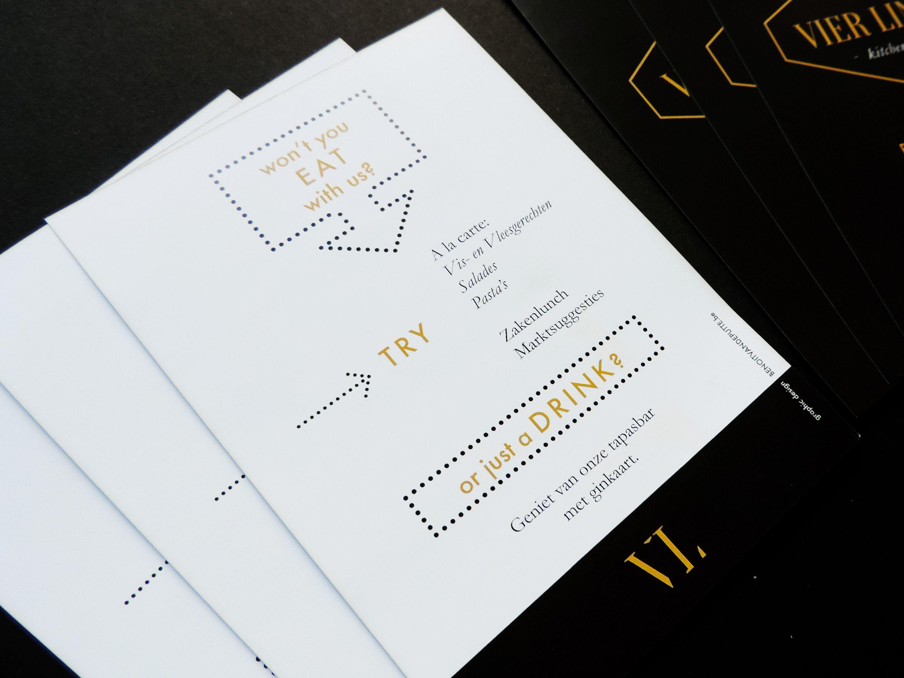 Vier Linden Kitchen & Bar - Graphic Design - Flyer by benoitvandeputte.com