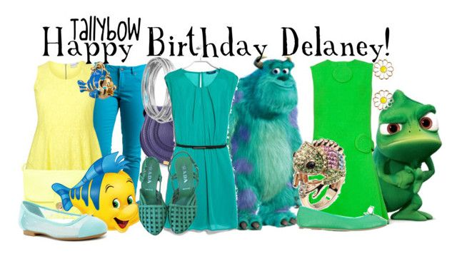 """""""Happy Birthday Delaney!"""" by tallybow ❤ liked on Polyvore featuring Rip Curl, See by Chloé, Restricted, Disney, Chloé, Worthington, MANGO, Prada, Pierre Cardin and Monsoon"""