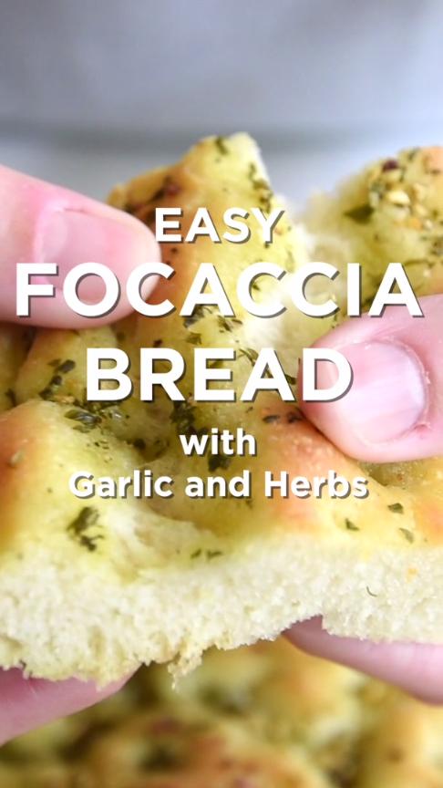 Easy Rosemary Garlic Focaccia Bread