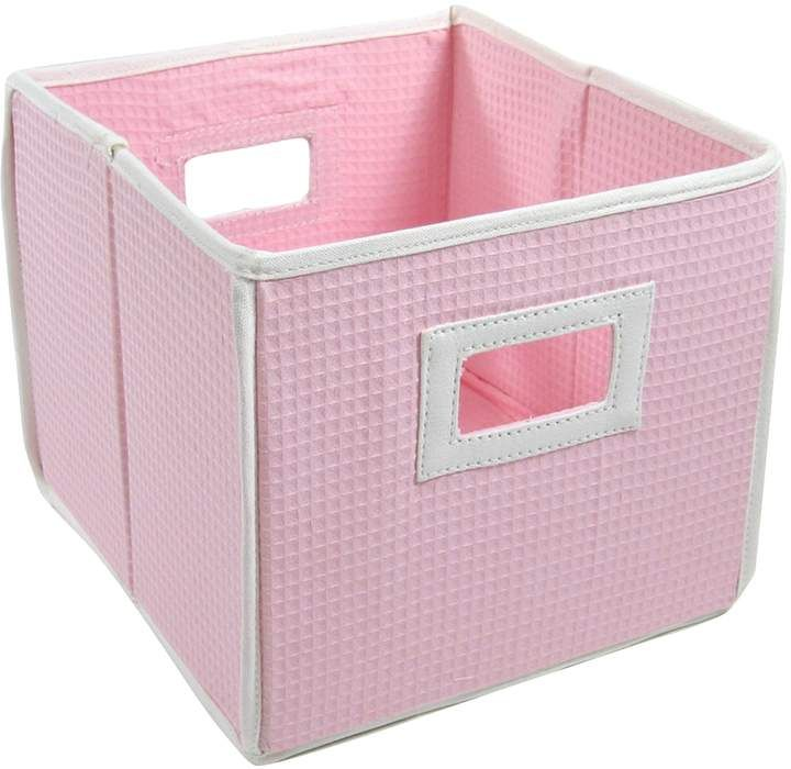 Badger Basket Waffle Weave Folding Storage Cube Cube Storage Badger Basket Nursery Storage
