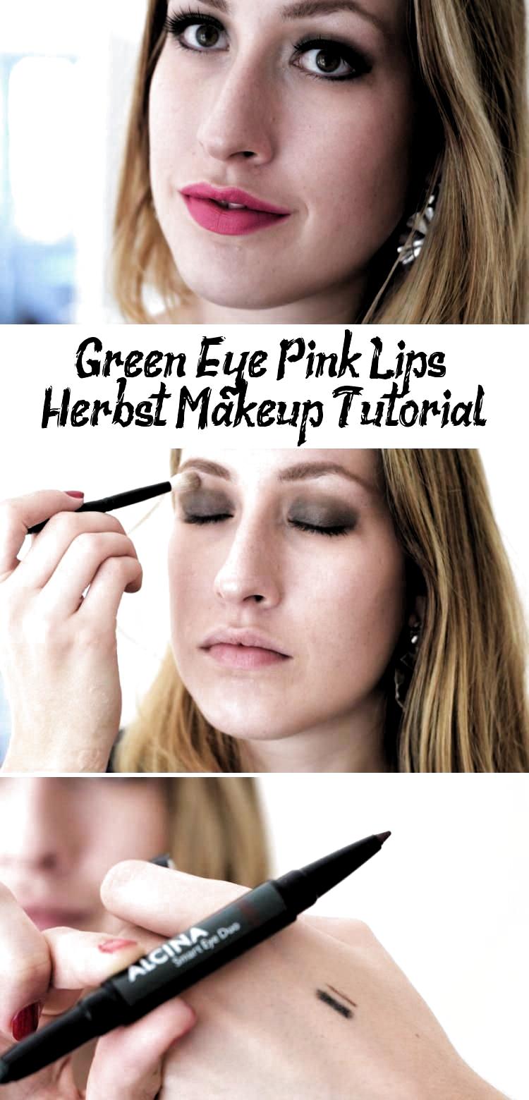 Make-up tutorial voor braune Augen: Grüner Lidschatten