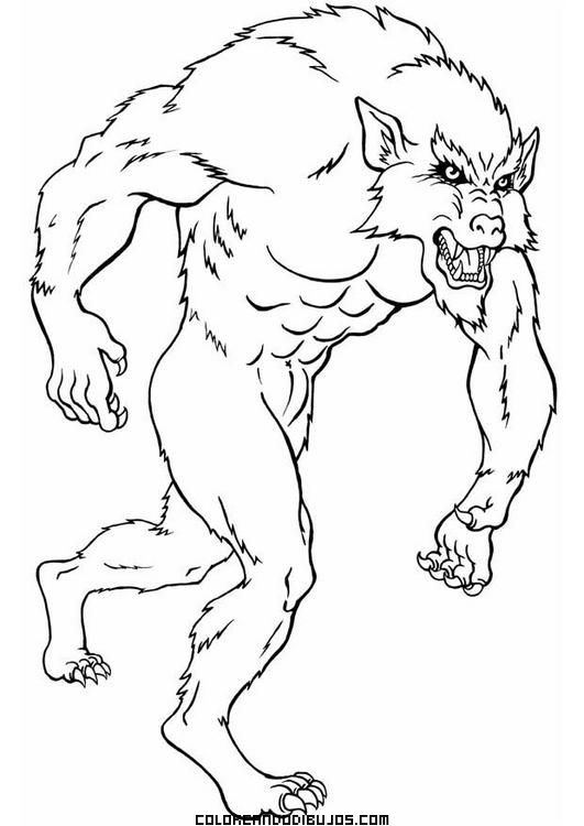 Hombre-lobo-para-colorear.jpg (531×750) | LEYENDAS | Pinterest