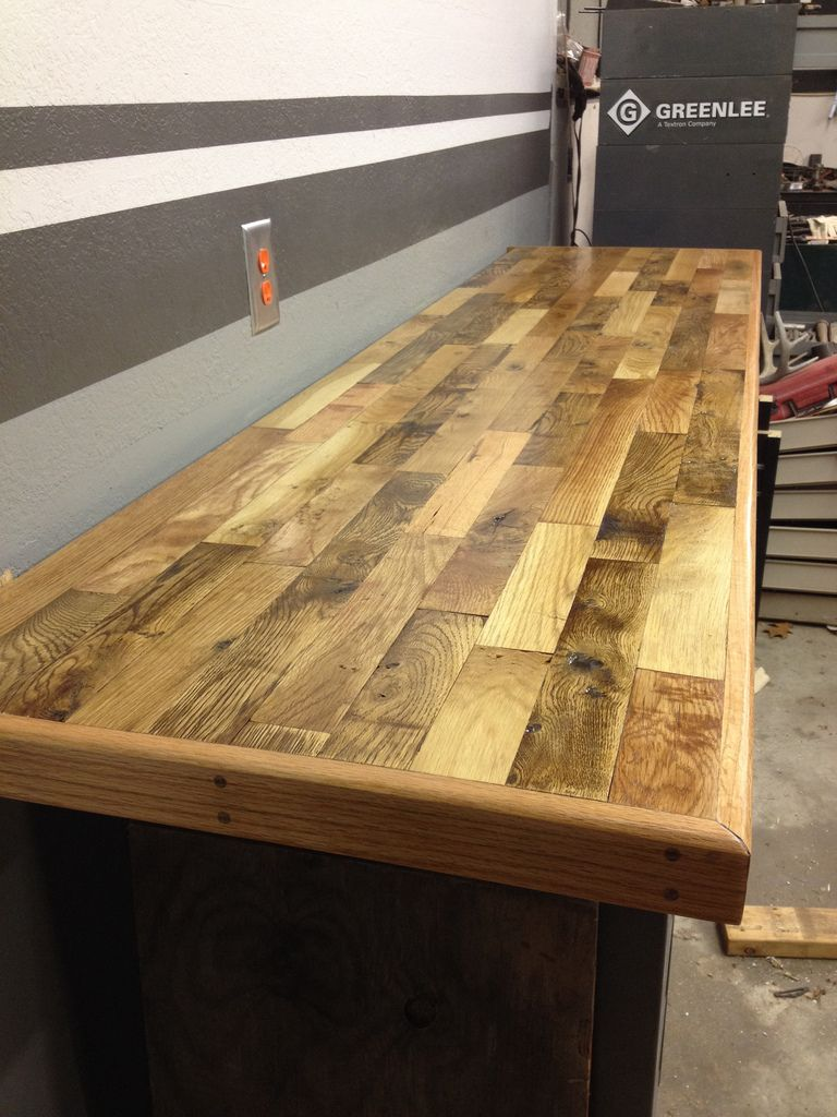 Anyone Used Hardwood Flooring For Benchtop The Garage Journal