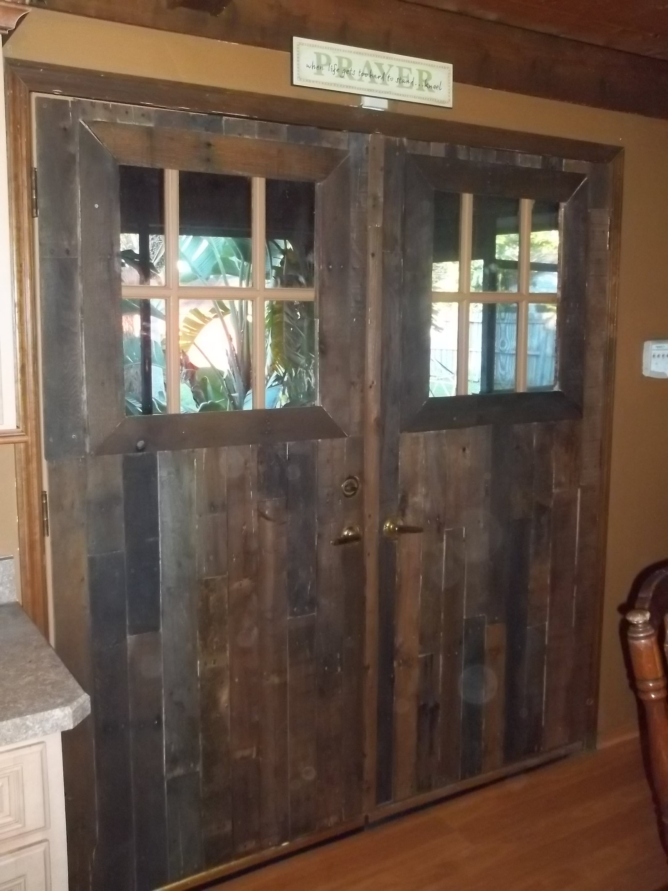 2880 #8C693F Reclaimed Pallet Wood French Doors.. Scraps.. Pinterest wallpaper Wooden French Doors 48152160