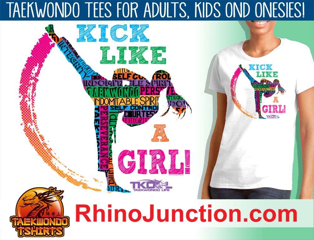 GIRL KICK! - TAEKWONDO GRAPHIC TEE -Kick Like a Girl! -JSST419 ...