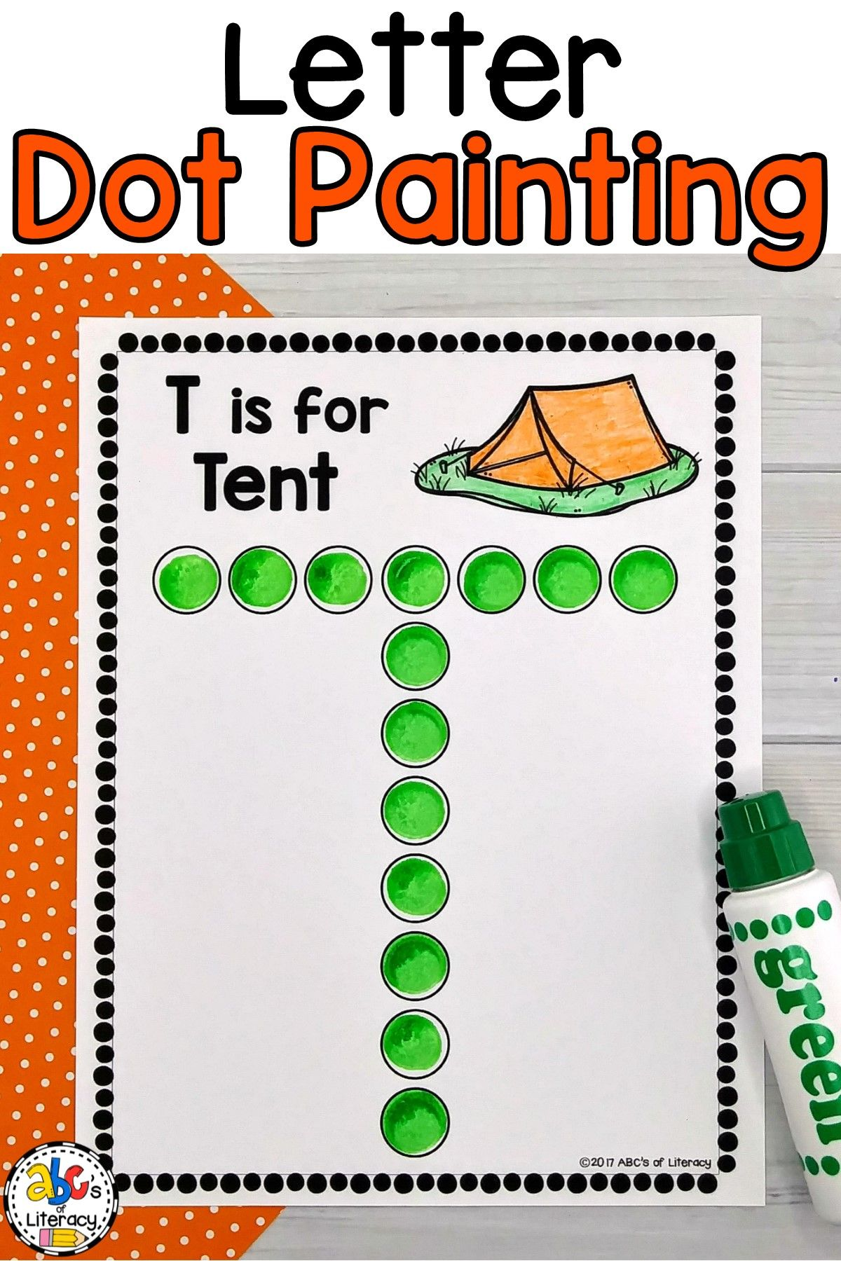 Letter Dot Painting Worksheets Bingo Dauber Activity