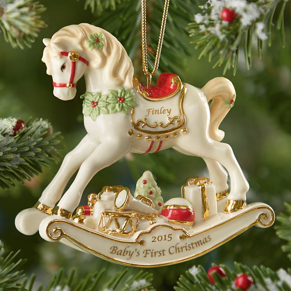 Rocking Horse Ornament by Lenox  Babys First Christmas