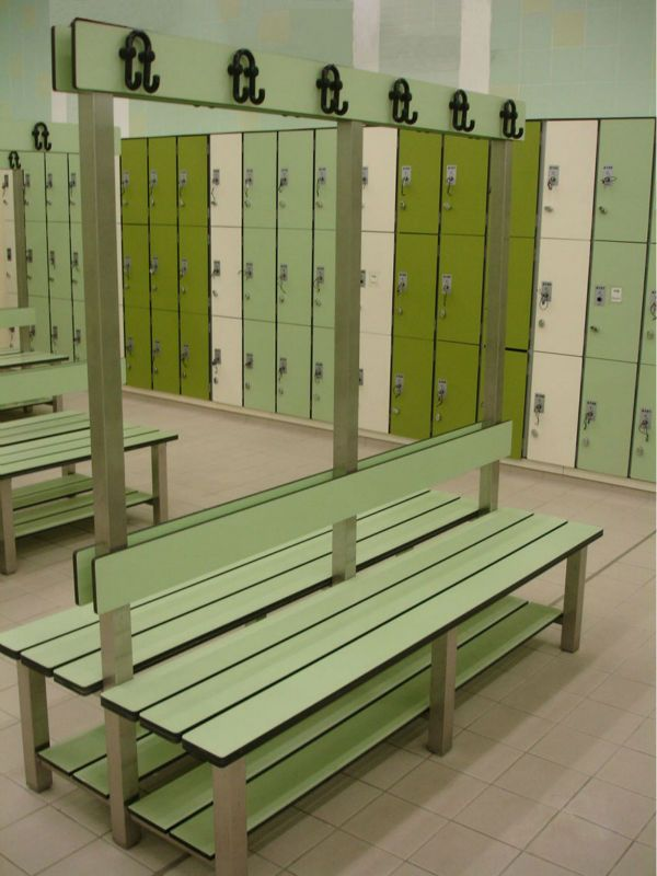 Green laminate swimming for Swimming pool room ideas