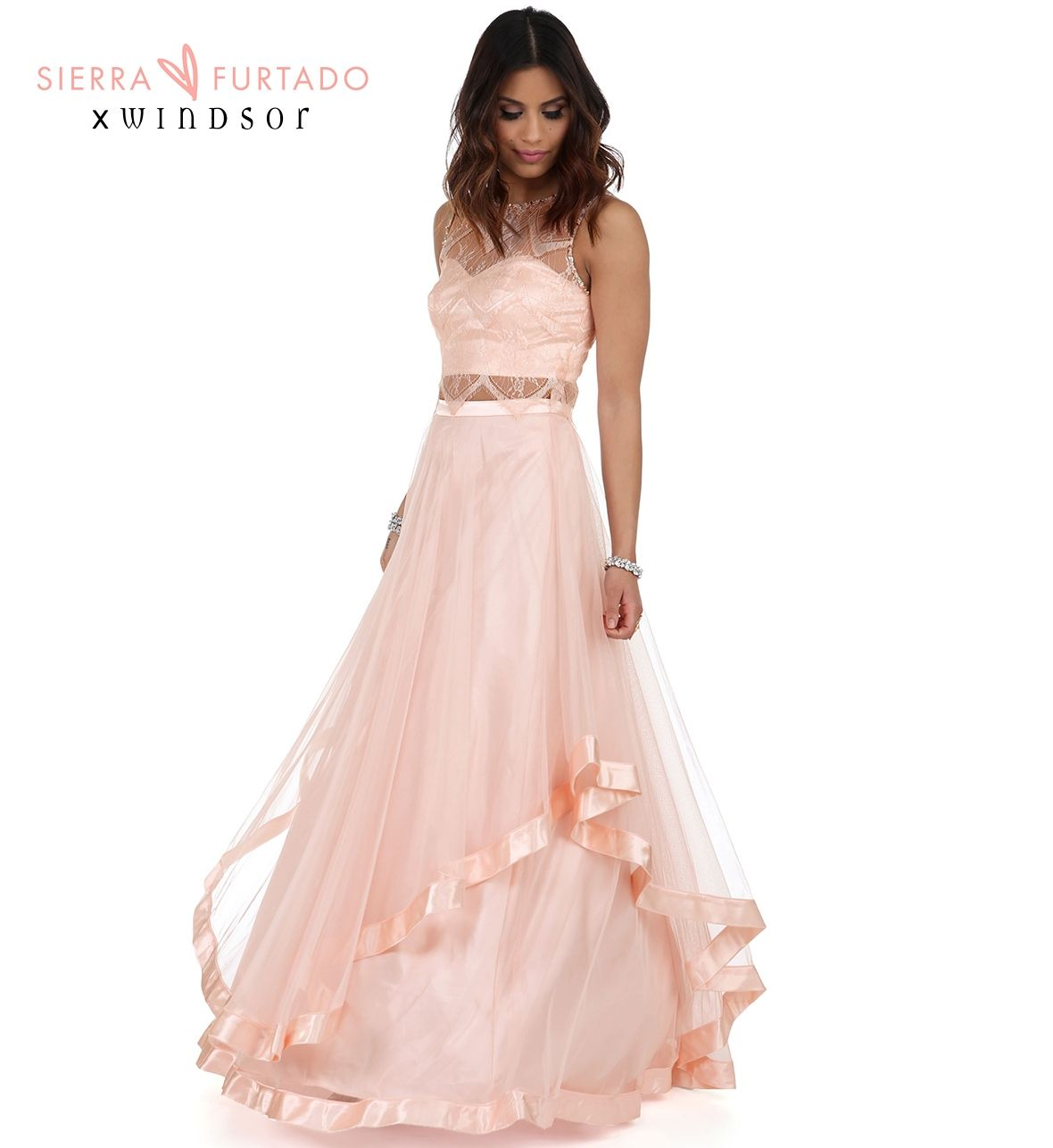 Sierra Pink Lace Prom Dress [ 1286 x 1180 Pixel ]